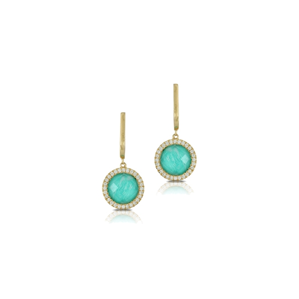 Colored Stone Earrings by Dove