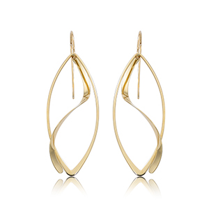 Gold Earrings by Carla/Nancy B