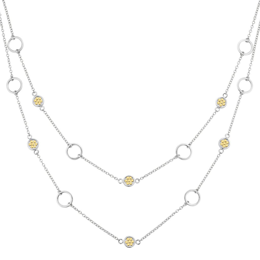 Sterling/Gold Necklace by Anna Beck Jewelry