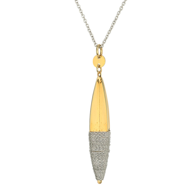 Sterling/Gold Pendant by Frederic Duclos