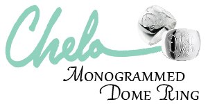 Chela Monogrammed Dome Rings - From ladies who lunch to Southern Belles, our exclusive Chela Monogrammed Dome Ring will help you stand out in the crowd.  Ou...