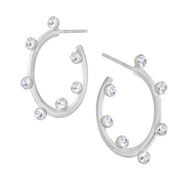 Diamond Hoopla Earrings by Suzy Landa