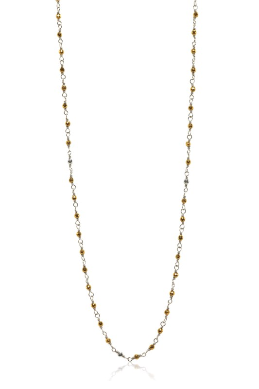 Sterling/Gold Necklace by Sara Blaine