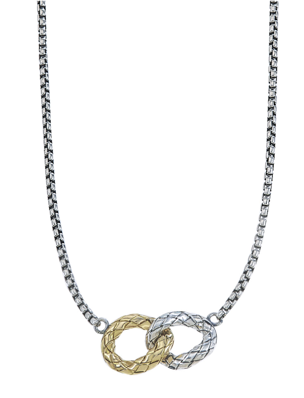 Sterling/Gold Necklace by Alisa