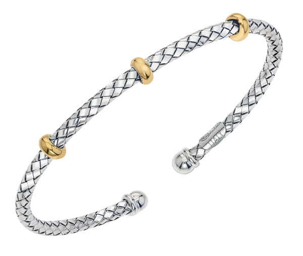 Sterling/Gold Bracelet by Alisa