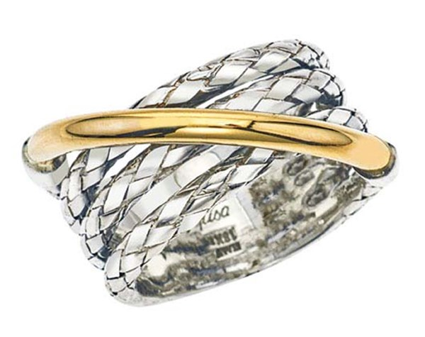 Sterling/Gold Ring by Alisa
