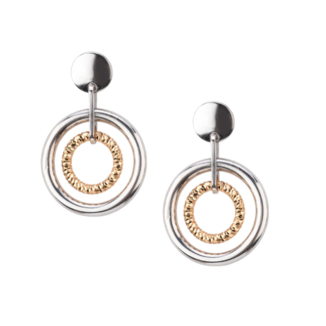 Sterling/Gold Earrings by Frederic Duclos